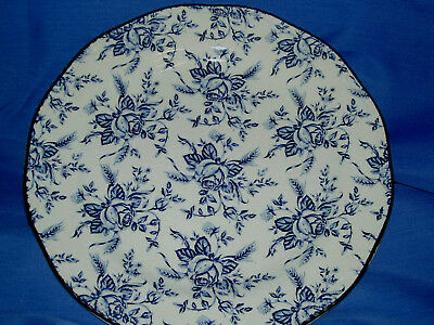 Wood & Sons COLONIAL ROSE BLUE  DINNER PLATE  ~New~Made in England