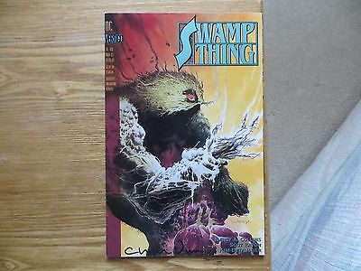 1993 Vintage Dc Vertigo Swamp Thing # 129 Signed By Charles Vess, With Poa