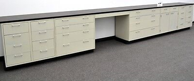 Laboratory Cabinets  19' Base w/ Chemical Resistant Counter Tops -