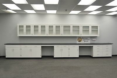 WHITE  22' BASE 17' WALL Furniture / Cabinets / Case Work / Benches / Tops-