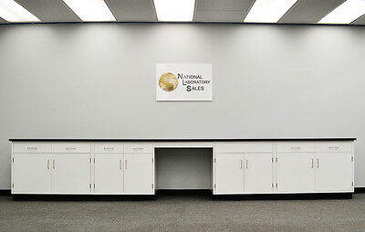 _ 17′ Fisher Base Laboratory Furniture / Cabinets / Case Work / Benches / Tops.