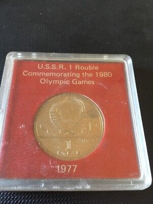 1977 Ussr 1 Rouble Commemorating The 1980 Olympic Games