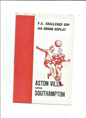 ASTON VILLA v SOUTHAMPTON (F.A Cup) 1968/69 (Pirate Issue)