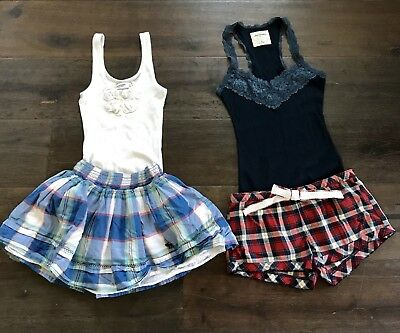 Abercrombie Kids Girls M 8-10 Lot Tanks Shorts Skirt Summer Outfits Value Save