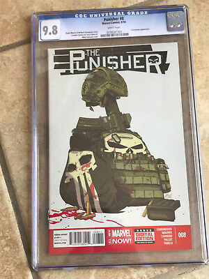 THE PUNISHER #8 cgc 9.8 2014 Series - Featuring EL DIABLITO & CROSSBONES