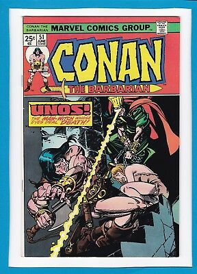 "Conan The Barbarian #51_June 1975_Vf/nm_""unos...the Death-Dealing Man-Witch""!"
