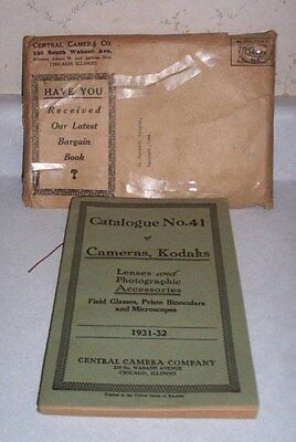 V. Good Vintage 1931-32 Catalogue No. 41 Of Cameras & Kodaks, In Orig. Envelope