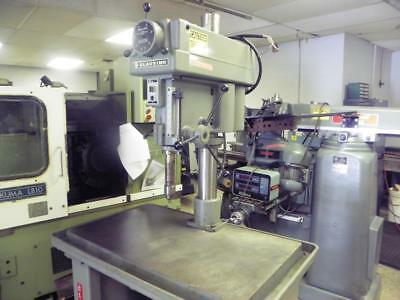 "20"" CLAUSING Model 2284 Single Spindle Drill Press, very nice with large table"