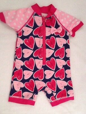 Age 3-6 Months Pink Floral Baby Girls UV Sunsuit
