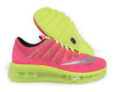 807237600 Nike Air Max 2016 Pink Silver Volt Youth Gs Sneaker Size 7Y