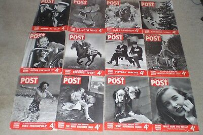 12 x  PICTURE POST Magazines   1945/1946