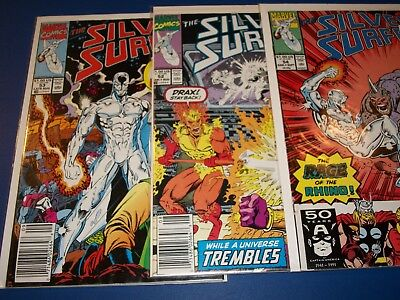 Silver Surfer #52,53,54 run of 3 Fine+ to VF Beauties Thanos