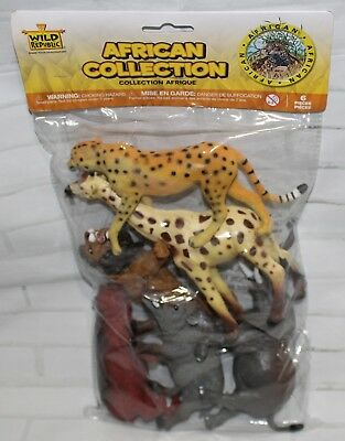 Wild Republic Polybag AFRICAN Animal Collection 6 Piece PVC Plastic Playset NEW