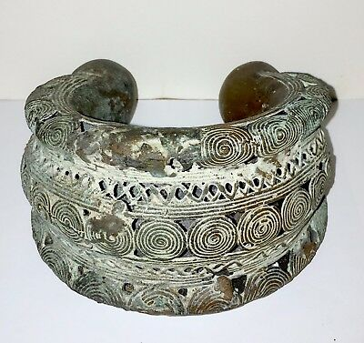 Beautiful Large African Bronze Ornate Currency Anklet - Beautiful Details (#2)