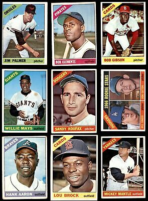 1966 Topps Baseball Low Number Complete Set VG