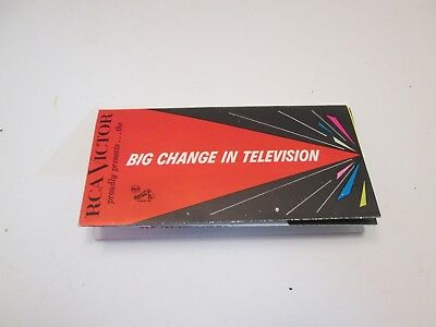 RCA Big Change In Television Foldout Brochure Mid 50's
