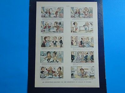 1896 PUCK MAGAZINE Cartoon Page UNCERTAINTY OF DEALING IN FUTURES print ad