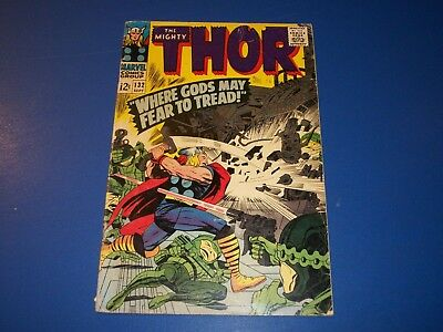 The Mighty Thor #132 Silver Age Solid VG wow 1st Ego Key