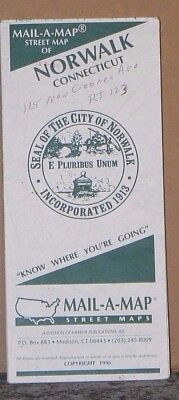 1996 Mail-A-Map Street City Map Norwalk Connecticut with Local Advertising