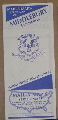1995 Mail-A-Map Street City Map Middlebury Connecticut w Local Ads