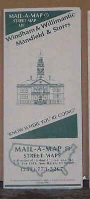1994 Mail-A-Map Street City Map Windham Willimantic Mansfield Storrs Connecticut