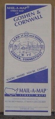 1995 Mail-A-Map Street City Map Goshen & Cornwall Connecticut with Local Ads