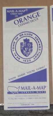 1996 Mail-A-Map Street City Map Orange Connecticut with Local Advertising