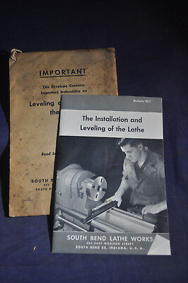 1945 Installation & Leveling of the Lathe - South Bend Lathe Works - ORIGINAL