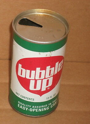 12 oz BUBBLE UP  Pull Top Steel Soda Pop Can