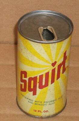 12 oz SQUIRT Pull Top Steel Soda Pop Can