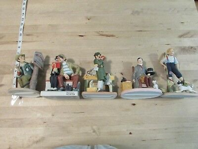The Danbury Mint Norman Rockwell Figurines Lot of Five