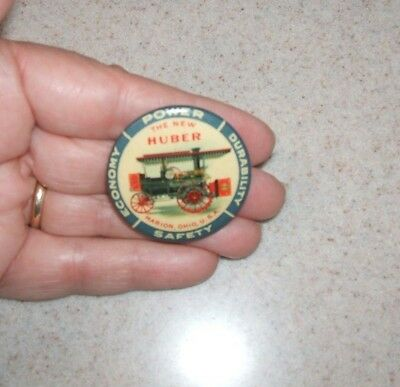 HUBER TRACTOR CELLO PINBACK  EXC CONDITION/ RARE NICE  Marion Ohio