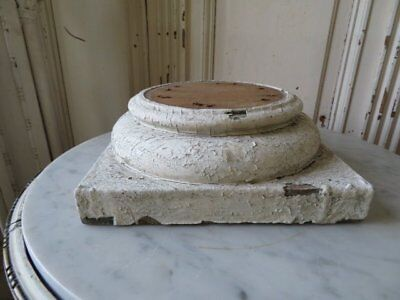 FABULOUS Large OLD ARCHITECTURAL WOOD BASE PEDESTAL for DISPLAY from Column WHT.
