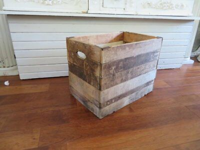 THE BEST large Old WOOD BOX Folds Flat AWESOME Natural Color & Patina GREAT LOOK