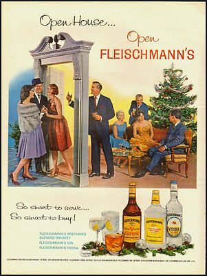 "Vintage ad for FLEISCHMANN""S Gin/Vodka/Christmas Scene (030313)"
