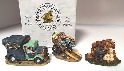 """Boyds  """"posy Pusher, Stewart & Martha And Bloom'n Idiots Delivery""""  ~ (Set Of 3)"""