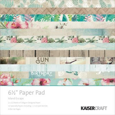 "KAISERCRAFT Scrapbooking Paper Pads - Island Escape 6.5 x 6.5"" - Nini's Things"