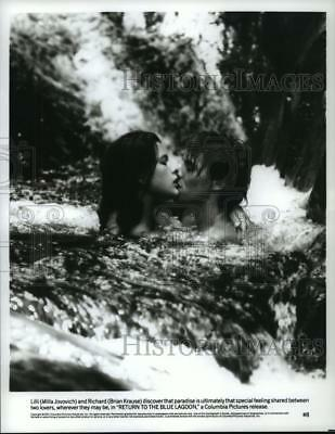 "1991 Press Photo Milla Jovovich and Brain Krause, ""Return to the Blue Lagoon"""