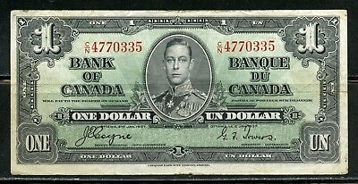 Canada Bank Of Canada   1937 One Dollar Note  Circulated You Do The Grading