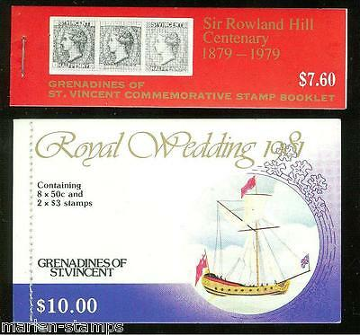 St. Vincent Grenadines  Lot Of  Two Complete Mint Never Hinged Booklets As Shown