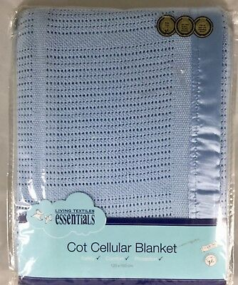 NeW Living Textiles Baby Cot Cellular Blanket 100% Cotton Fits Borrie