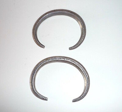 Pair Old Coin Silver Children's Bracelets Laos SE Asia