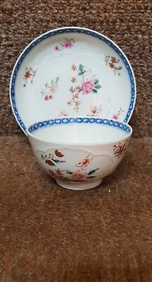 Chinese 18thc Famille Rose Tea Bowl And Saucer