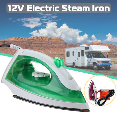 12V 150W Electric Clothes Steam Iron Steamer Flatiron For Camper Travel Outdoor