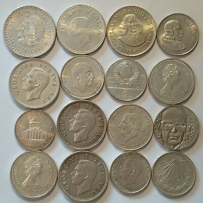 Silver Lot of 16 Coins 355 grams !!