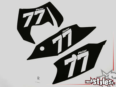Startnummernfelder Dekor backgrounds f. KTM EXC 125 250 450 530 2012-2013 plates