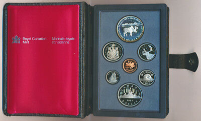 CANADA: 1985 Proof Set with Silver $1, Double Dollar - National Parks of Canada