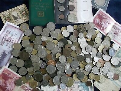 JOB LOT OF OLD COINS AND BANKNOTES 99p M24 L
