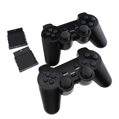 2 x Wireless Dual Controllers For PS2 Joypad Gamepad Consoles With Receiver EZ