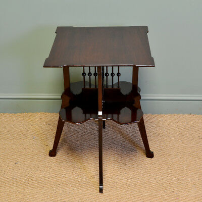 Stunning Art Nouveau Edwardian Mahogany Antique Occasional Table / Book Stand